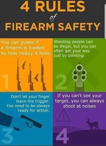 4 правила безопасности при обращении с оружием. Юмор, Техника безопасности, Оружие, Ipsc