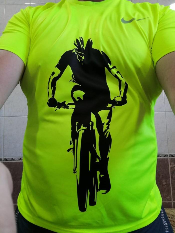 Спрятал пятно Велосипедист, Футболка, Печать на футболках