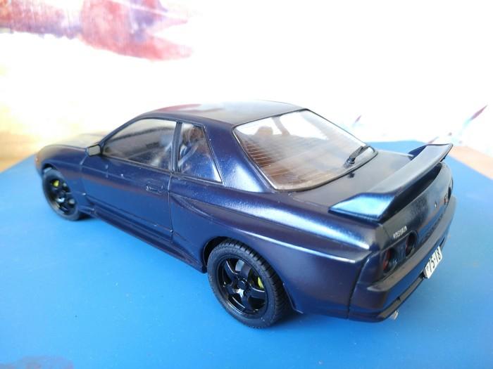 Nissan Skyline GT-R R32 1:24 Tamiya Стендовый моделизм, Nissan, Tamiya, Длиннопост