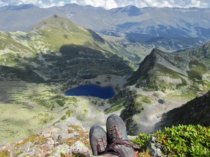 На вершине Разломистой (2925 м) и оз. Рыбка Горы, Озеро, Поход, Архыз, Пейзаж, Природа, Фотография, Туризм