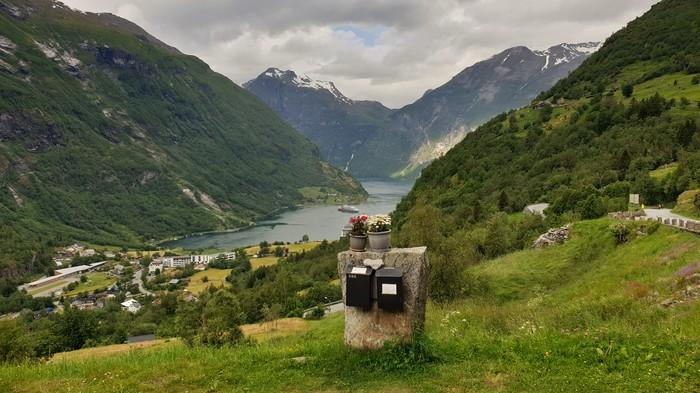 Пишите письма) Гейрангер, Норвегия, Фьорды, Почта