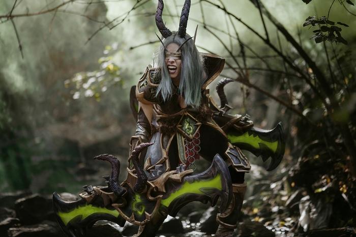 Demon hunter - world of warcraft cosplay Demon Hunter, World of Warcraft, WOW, Косплей, Красивая девушка, Длиннопост