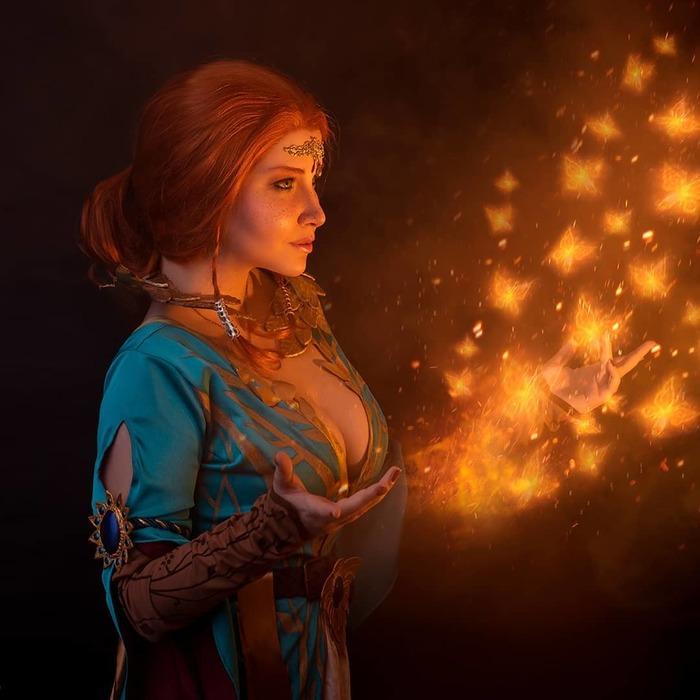 Triss Merigold from The Witcher The Witcher 3:Wild Hunt, Трисс Меригольд, Ведьмак, Косплей, Красивая девушка, Длиннопост
