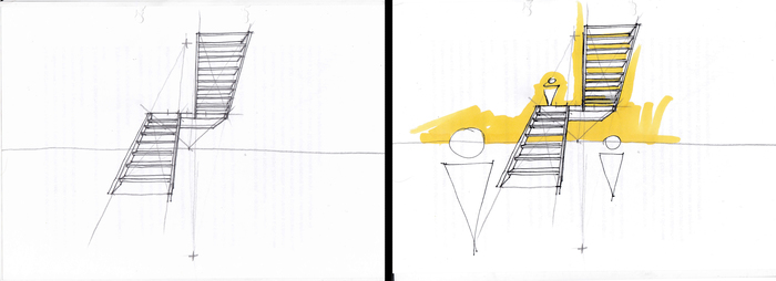Как научиться рисовать или как овладеть лестницей, не привлекая внимания санитаров. Кривая линия, Рисунок, Длиннопост, Рисование, Гифка, Видео