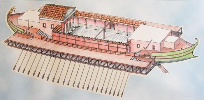 Плавучие дворцы императора Калигулы Калигула, Древний Рим, История, Италия, Длиннопост