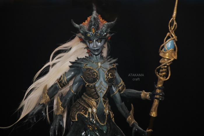 Королева Азшара (World of Warcraft) - коллекционная фигурка ручной работы World of Warcraft, Рукоделие с процессом, Фигурка, Русалка, Творчество, Ручная работа, Blizzard, Длиннопост