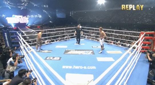 Самый быстрый нокаут в истории MMA Спорт, Боевые искусства, MMA, Нокаут, Рекорд, Гифка, Норифуми Ямамото