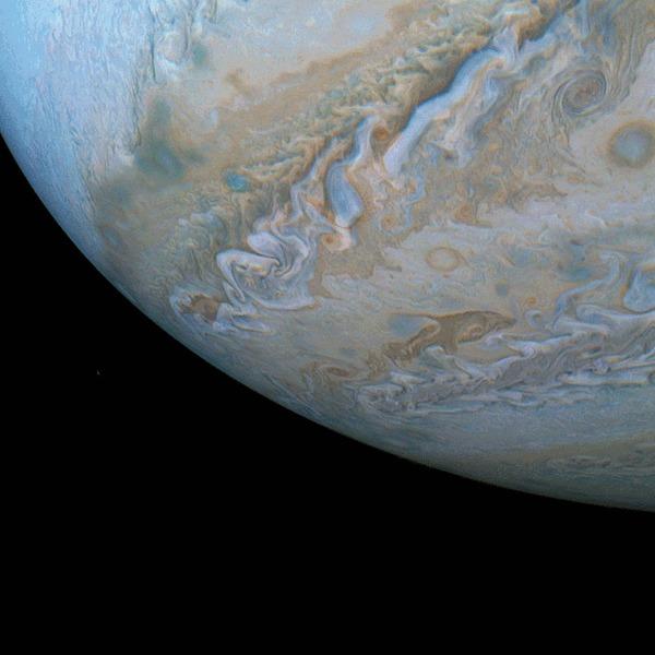 Дельфин на Юпитере Юпитер, Дельфин, Облака, Гифка, Длиннопост
