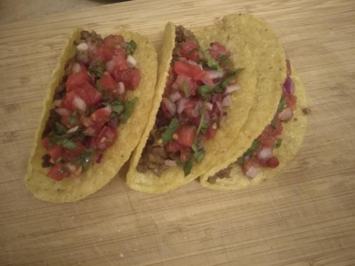 Такос с пико де гальо (ресторан Taco bell) Вкусно, Легко, Быстро, Тако, Мексиканская кухня, Помидоры, Ресторан, Соус, Длиннопост