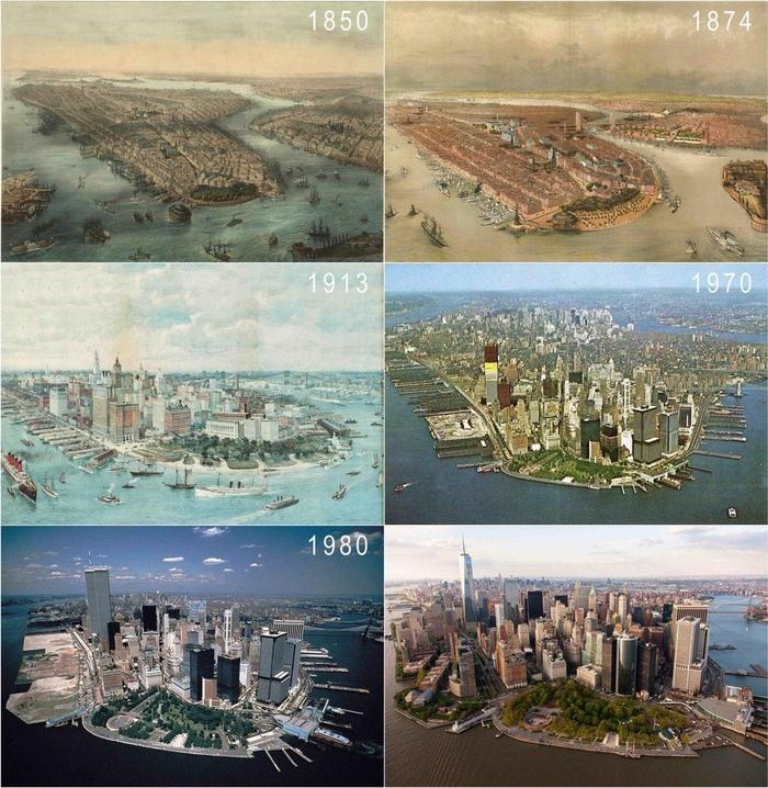 Манхэттен с середины XIX века по настоящее время