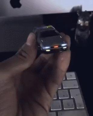"""Машинка """"Назад в будущее""""Hot Wheels и дополнительная реальность Hot Wheels, Назад в будущее, Дополненная реальность, Гифка"""
