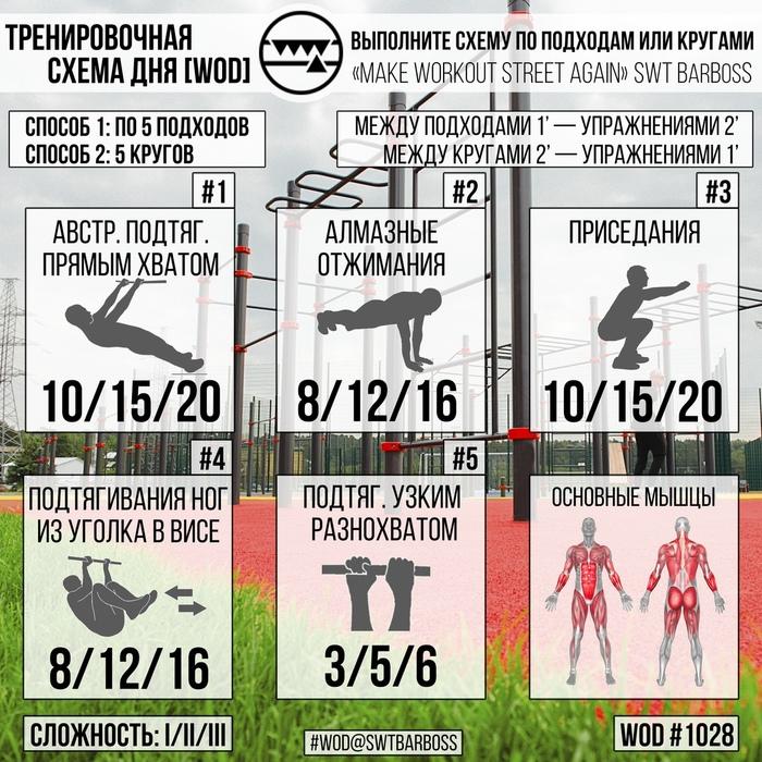 7 тренировочных схем для слабеньких и не очень Длиннопост, Калистеника, Понедельник, Программа тренировок, Тренировка, Физкультура