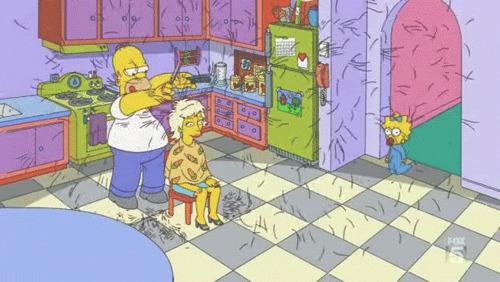 Симпсоны на каждый день [13_Сентября] Симпсоны, Каждый день, Парикмахерская, Парикмахер, Гифка, Длиннопост