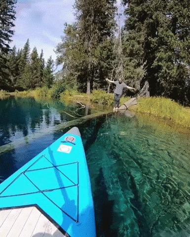 Невероятно чистое озеро