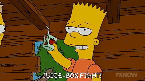 Симпсоны на каждый день [21_Сентября] Симпсоны, Каждый день, Сок, Фрукты, Гифка, Длиннопост