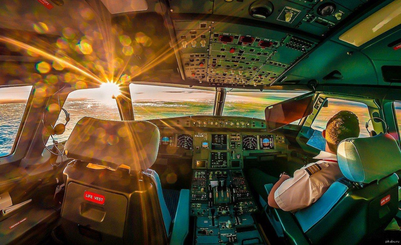 выложите фото в кабине пилота сновании