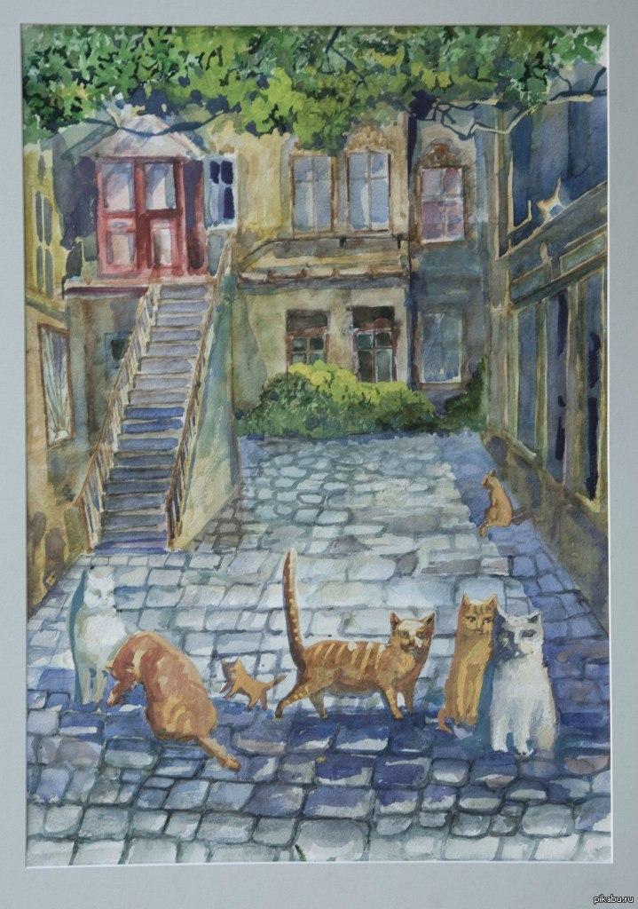 Моя дипломная работа на тему Одесский дворик  Моя дипломная работа на тему quot Одесский дворик quot Коты неотъемлемая часть моего