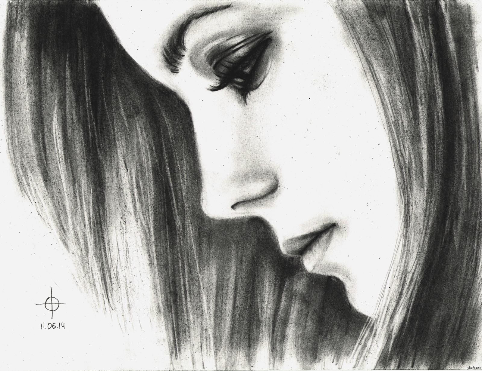 картинки девушки рисунки карандашом