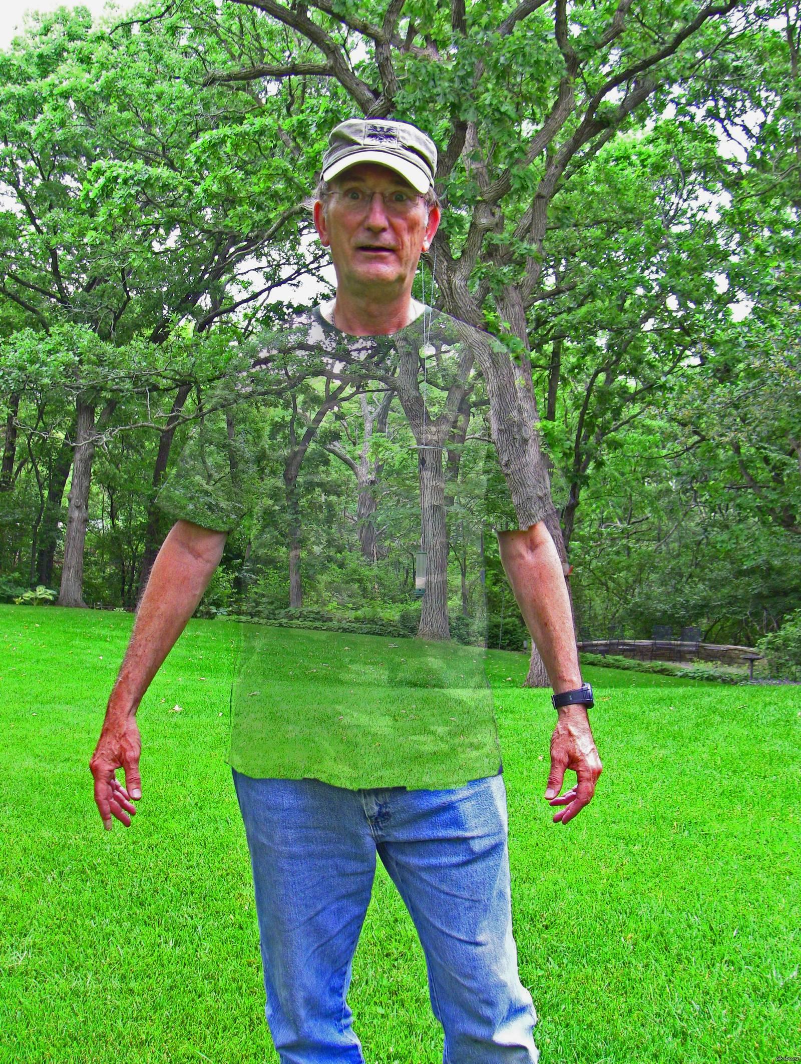 Первая работа отца в Photoshop. Камуфляжная футболка