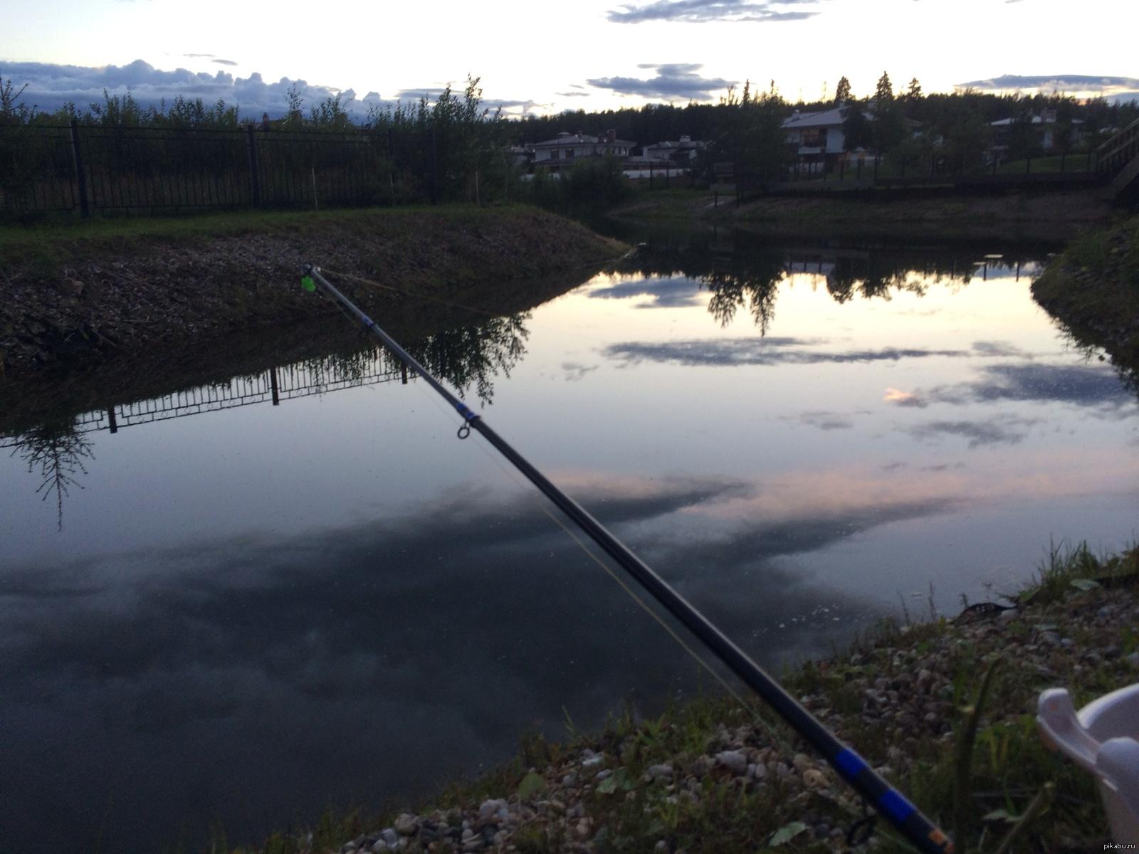 Рыбалка на озере в подмосковье