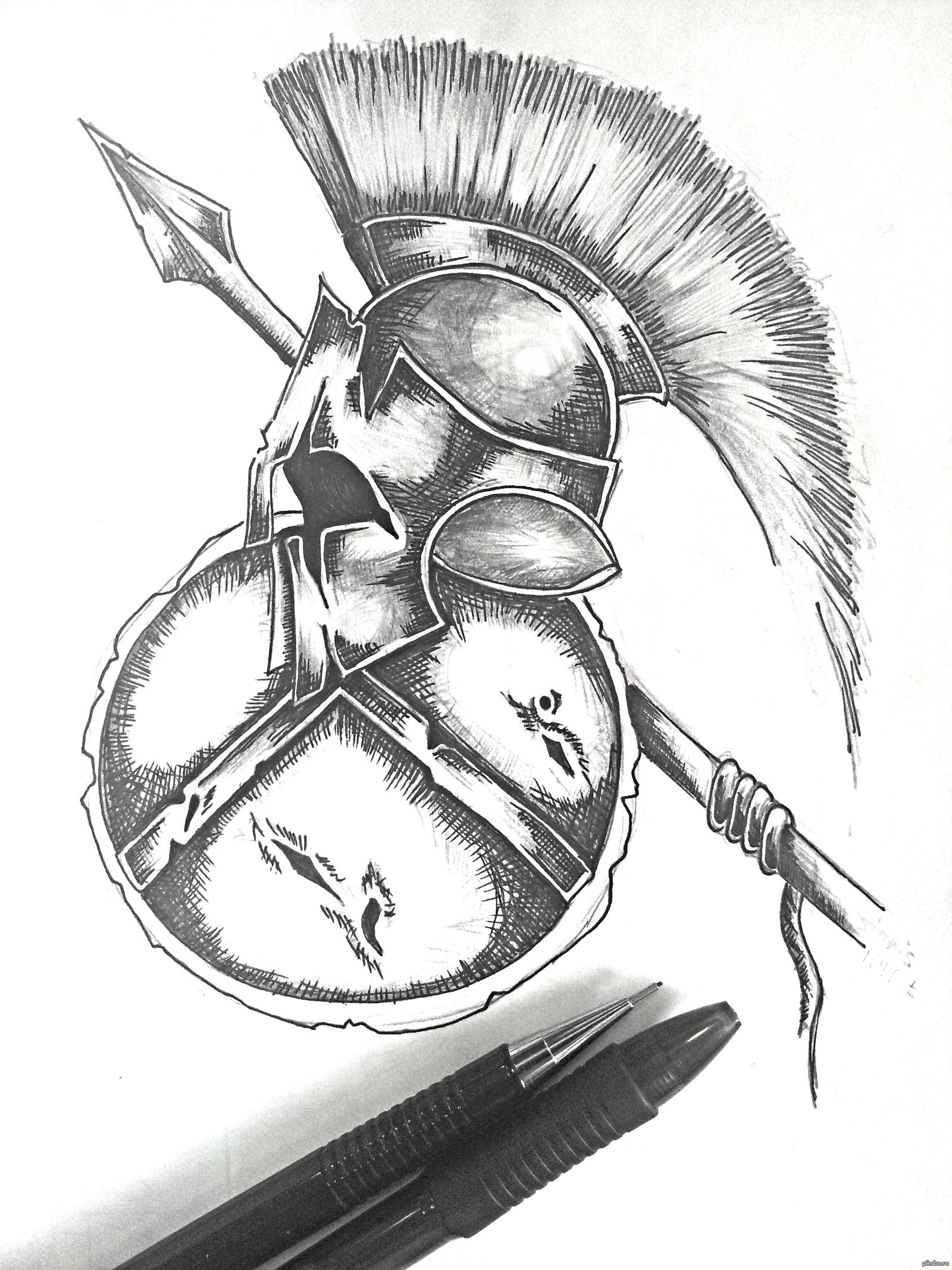 картинки татуировок спартанец уже