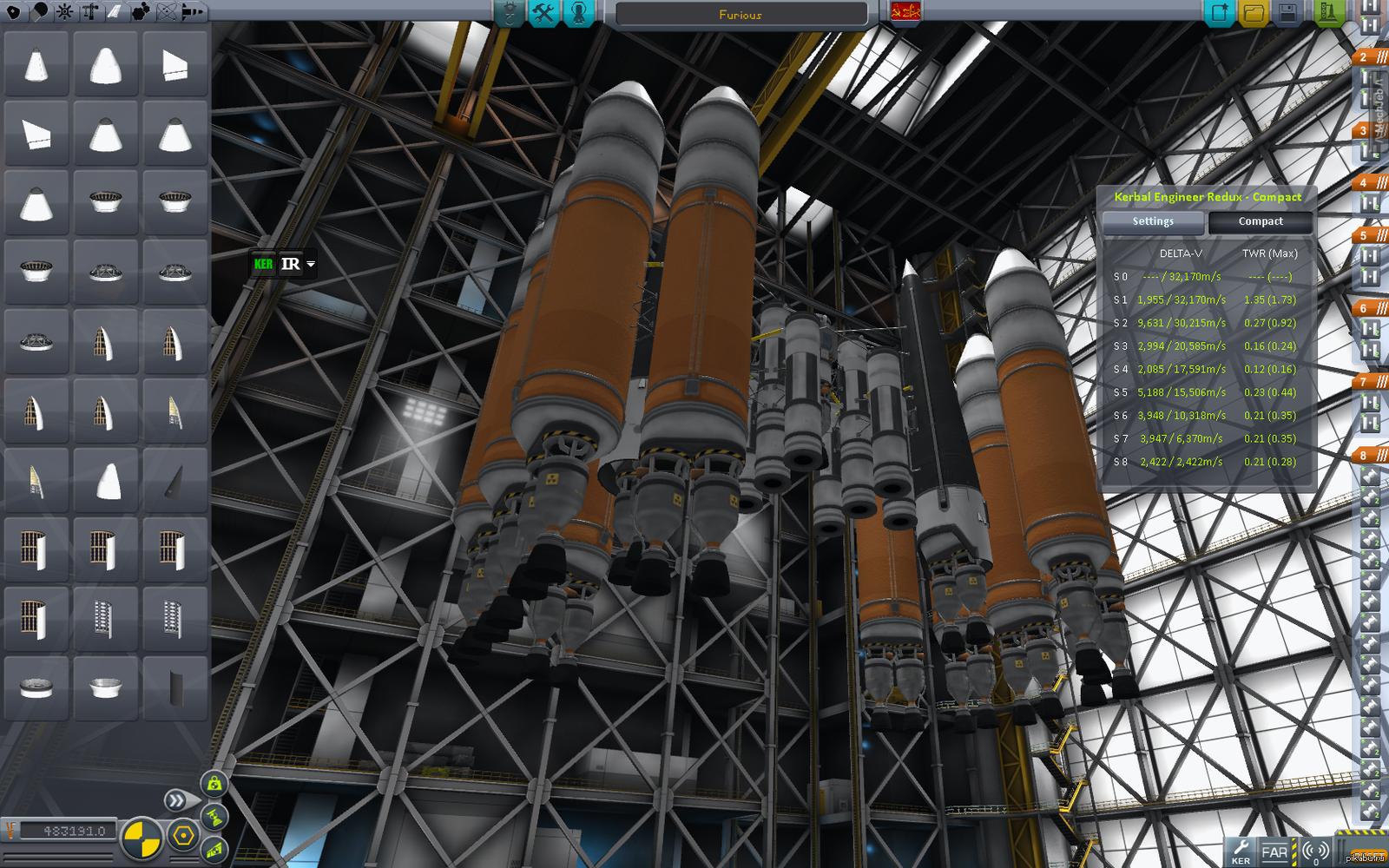 Представляю вашему вниманию космический корабль Furious