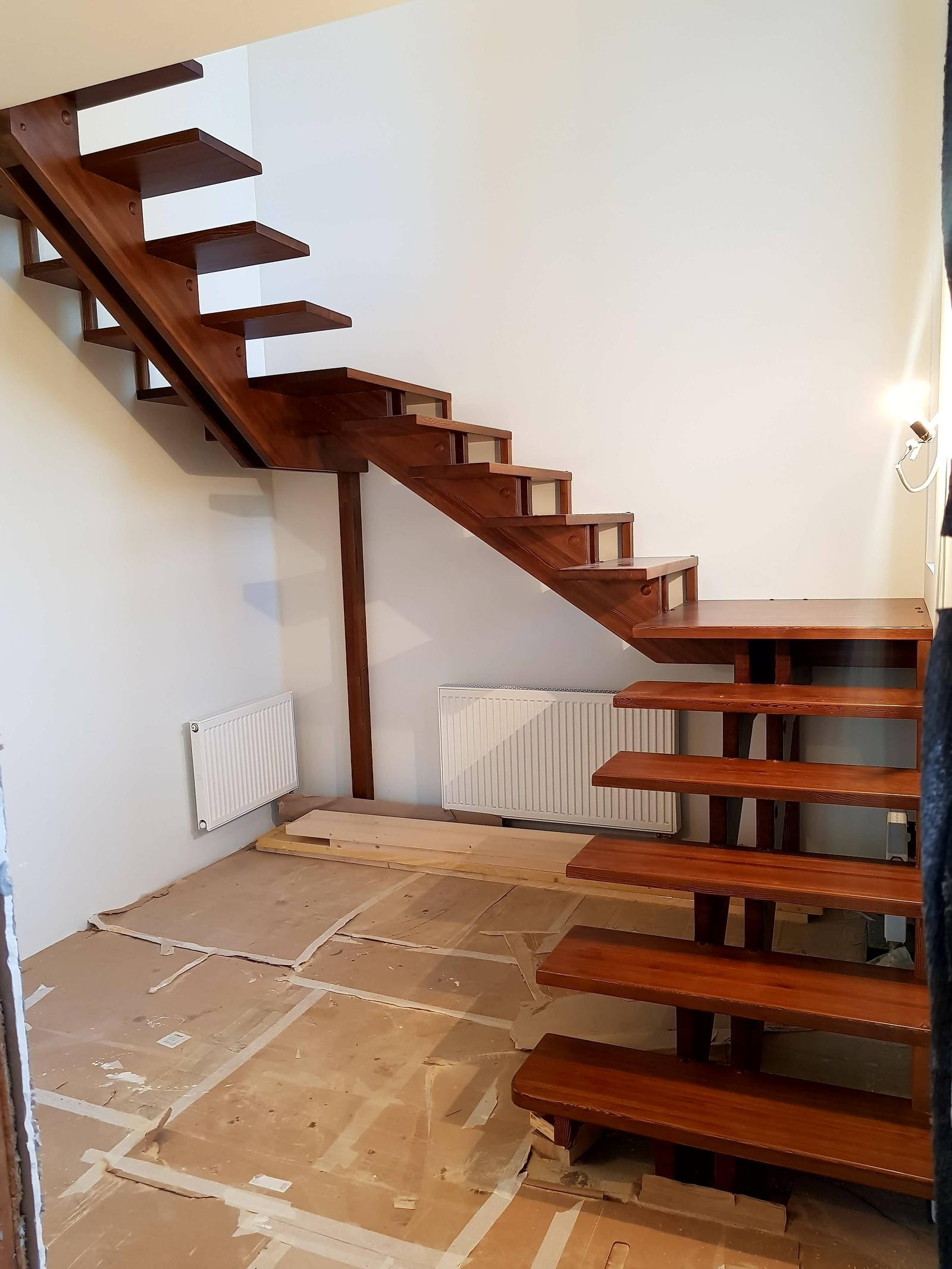 Как сделать лестницу переход 62