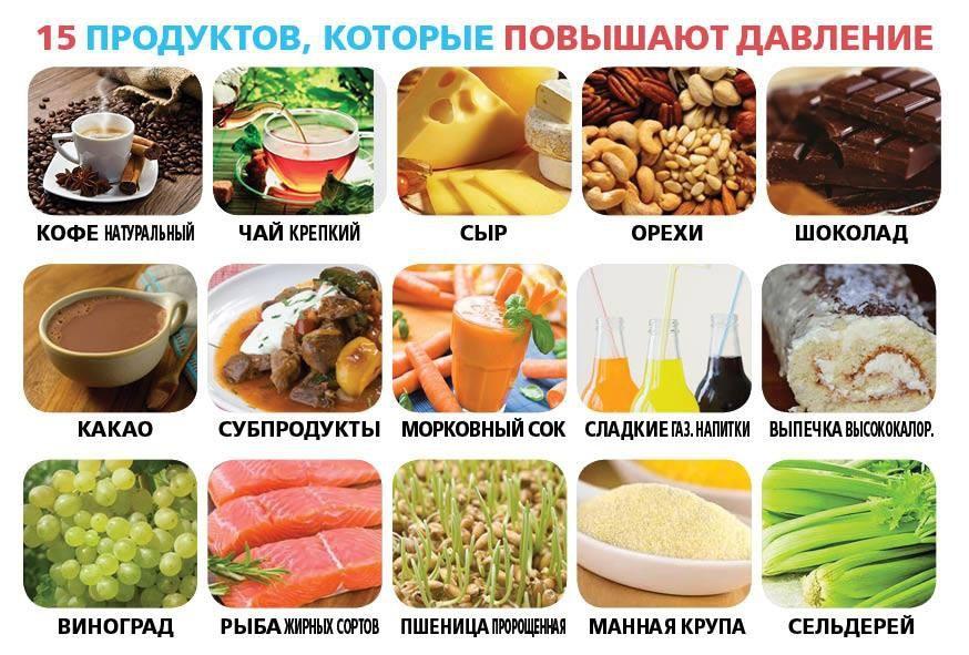 Какие продукты надо употреблять при низком давлении