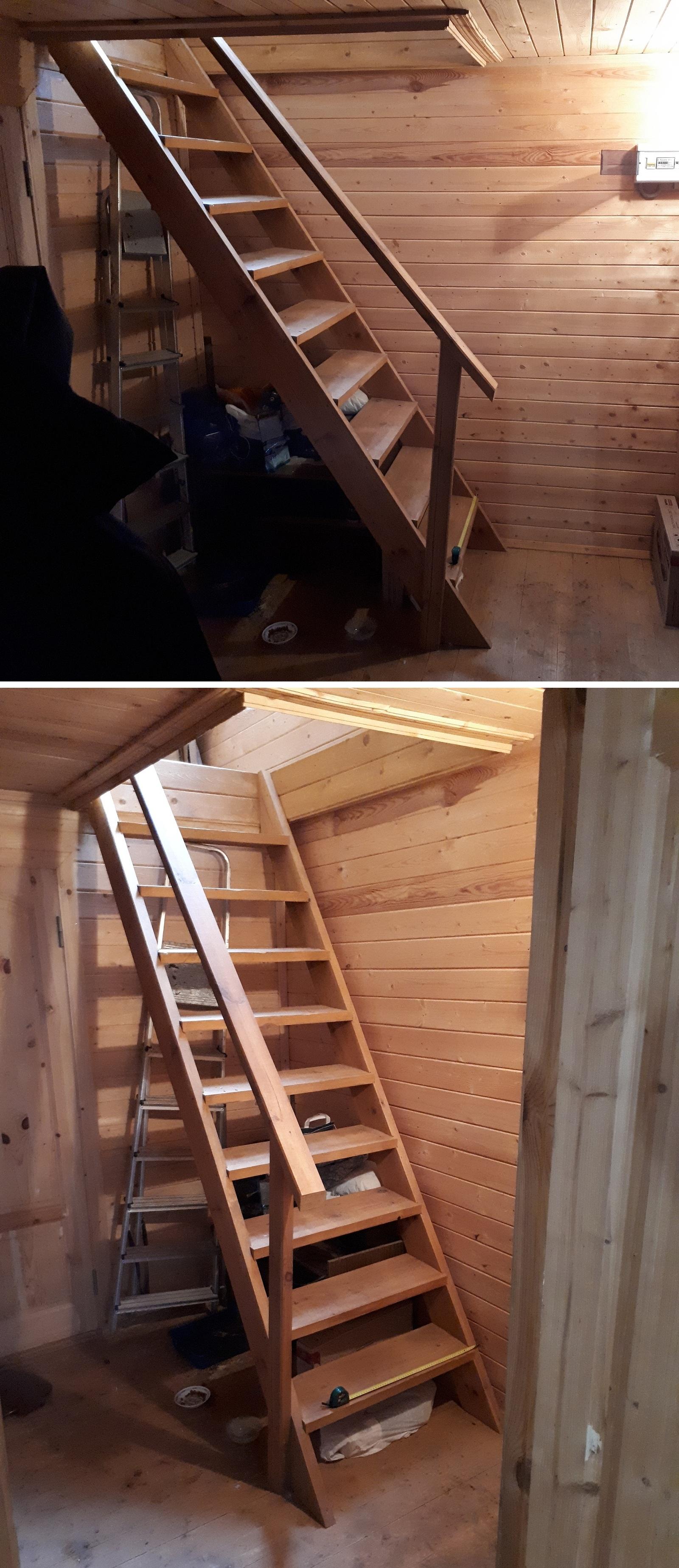 Моя дача фото лестница своими руками