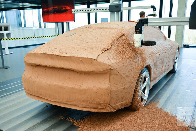 Как создают глиняный макет автомобиля ауди А7 в натуральную величину