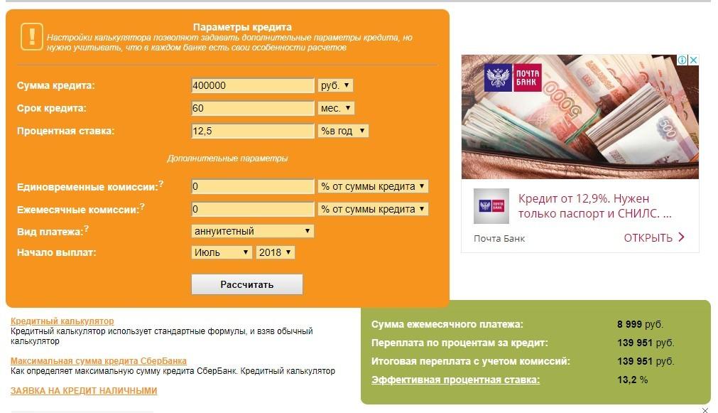 кредит по документам и по паспорту