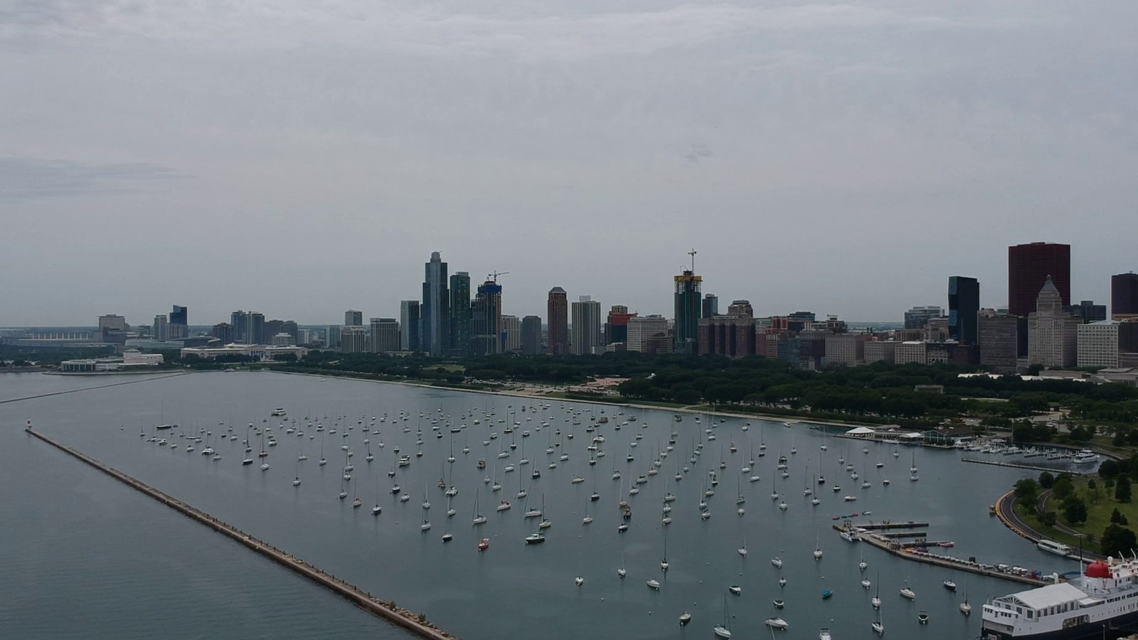 Обои чикаго, мосты, здания, chicago, сша, ночь, америка. Города