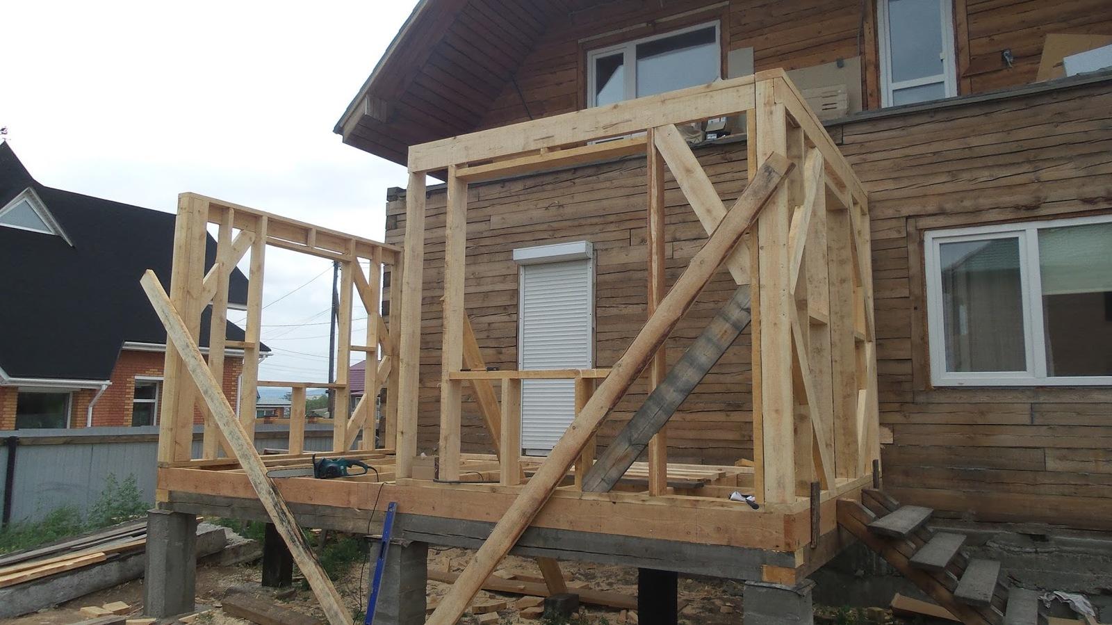 Строительство веранды своими руками дом