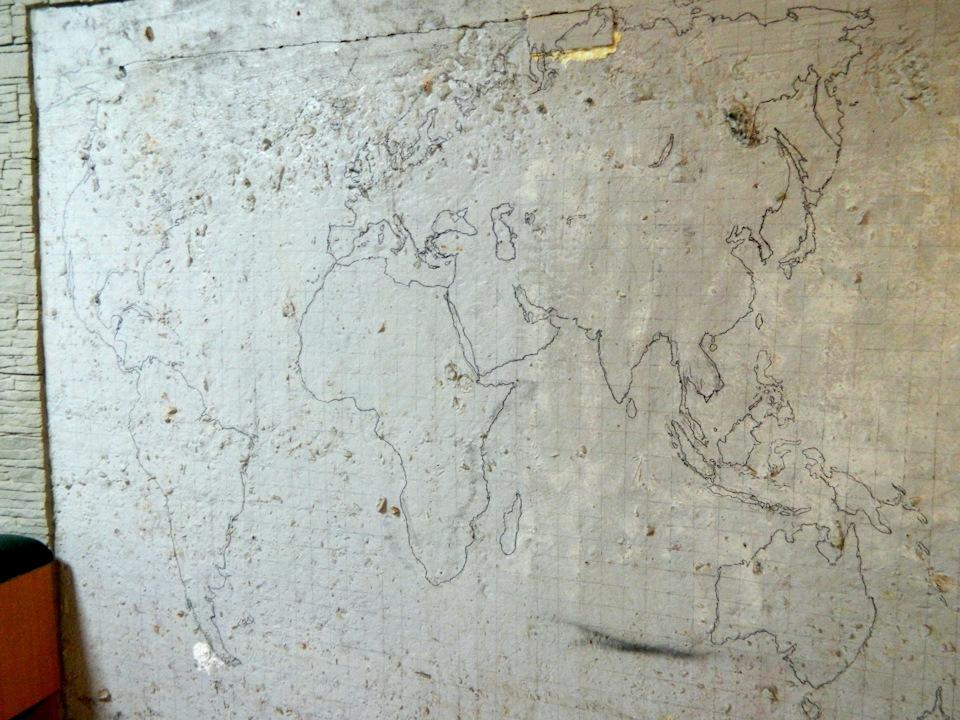 Декоративная карта мира на стену своими руками