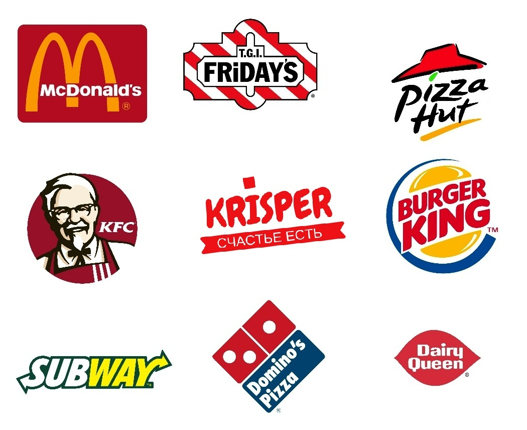 75c641a2a86 Логотипы фастфуд компаний. Как менялись логотипы компаний из сферы напитков  и питания.