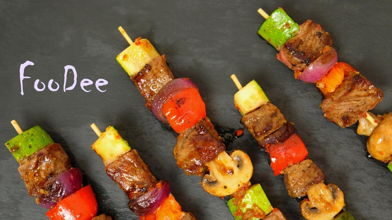 Как приготовить овощи на шпажках