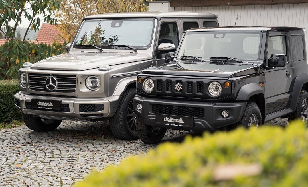 Новые Mercedes G-class и Suzuki Jimny