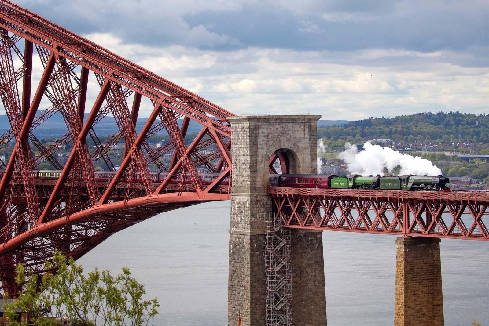 Обои scotland, поезд, forth bridge, вагоны. Разное foto 16